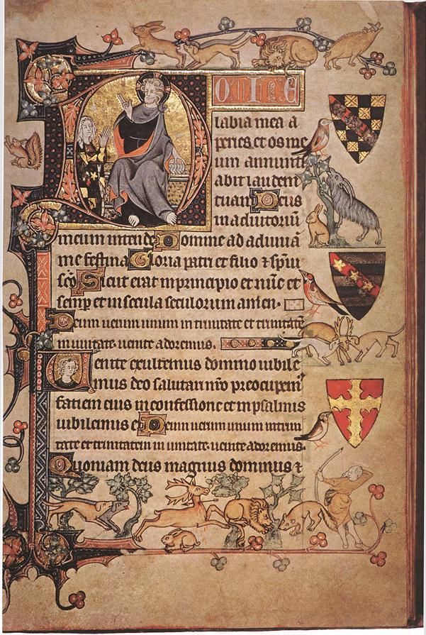 een 14e-eeuwse pagina met metten