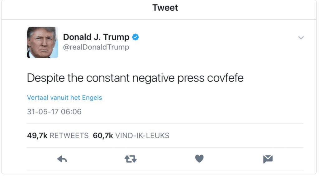 Trump tweet covfefe